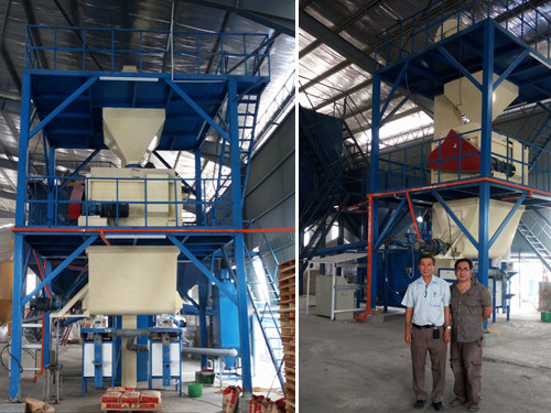 tile adhesive mortar production machine hot sale in malaysia and phillippine
