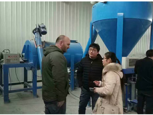 American client buy dry mortar mixing machine