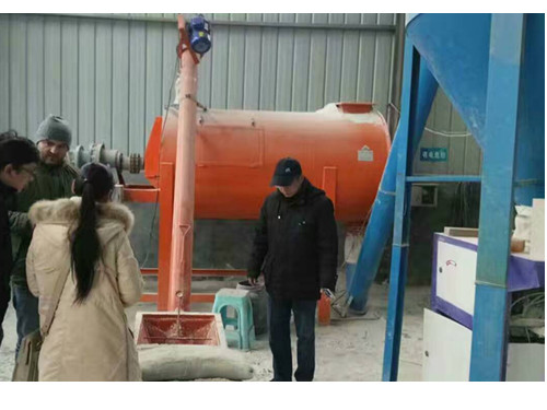 dry mortar mixing machine for American client